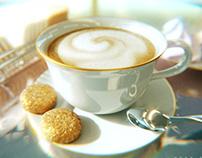 Retro cappuccino