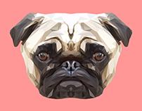 Pug Polygon Art