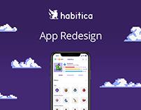 Habitica – App Redesign