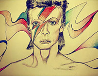 David Bowie Illustration Portrait