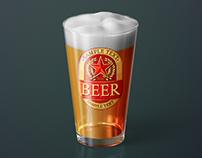 Beer Glass Mock-up – American Pint