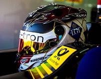 Daniel Abt 2017/18 Audi Formula E Helmet Design