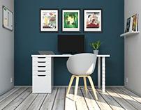 Livingroom workspace