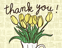 Thank You Card - Tulips