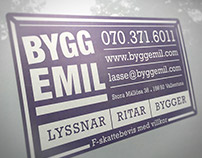 Bygg Emil: Logo, businesscard, car decal