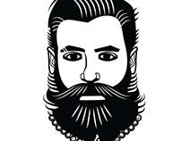 Man with long beard vector image