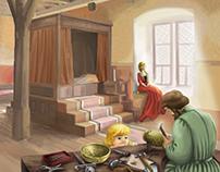 kids magazine illustration Johan Gutenberg