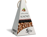 Almond with pink himalayan salt /packaging concept/
