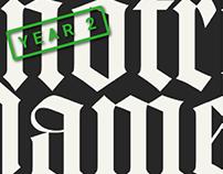 Typographic Exploration: Notre Dame Roman