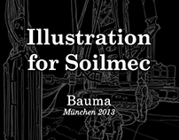 Illustration for Soilmec at Bauma 2013