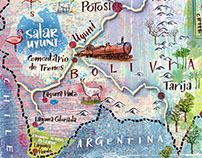 Map of Bolivia (National Geographic) 2016