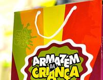 Armazém da Criança | Logotype and Shopping Bag