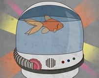 Galactic Fishbowl gig poster