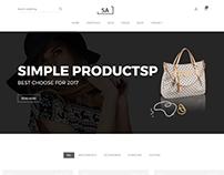 Sa - Minimalist eCommerce Template