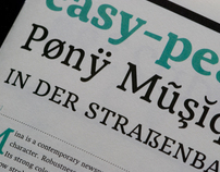 Mina typeface