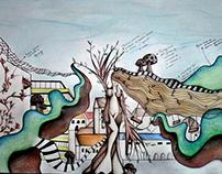 Ilustração Projecto Surrealista | Parque de Diversões