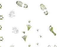 living tracks - endangered species awareness poster