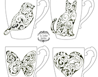 Carved Scroll Mug designs