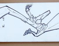 By hand Skateboard
