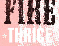 thrice cd package & posters.