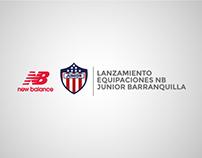 Lanzamiento Equipaciones NB Junior Barranquilla