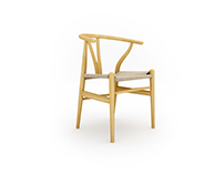 Free 3D Model: Wishbone Chair CH24 by Carl Hansen & Son