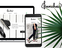 Feenches - fashion ecommerce website design