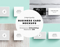 2 Business Card Mockups [Square and Standard]