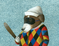 Harlequin dog