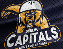 BERLIN CAPITALS MEN'S ROLLER DERBY LOGO