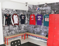 Majestic Athletic - Showroom Proposal and Photos