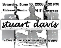 Stuart Davis - Single Flyer -