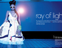 Elle Magazine- Ray of Light