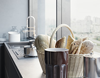 Kitchen. 3D visualization (Poliform)