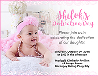 Invitation and Thank You Card for Shiloh