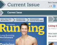 Canadian Running Magazine Web Site