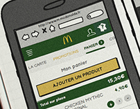 Mc Donalds France wireframe