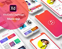 Music app - XdDailyChallenge