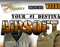 Fox Airsoft Weekly HTML newsletters (Mailchimp)