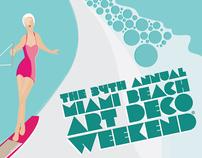 Art Deco Weekend // poster design
