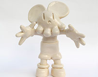Creepy Mouse - Ceramic Toy Sculpture