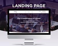 PR & Event agency - Landing Page Design