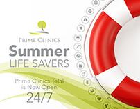 Prime Clinics Branding & Print Material