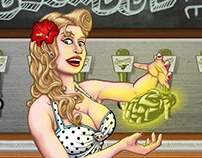 Sherwood Brewing Company - Beer Illustrations