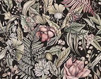 Repeating Botanical Print