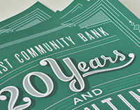 First Community Bank: 20th Anniversary Poster
