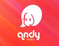 andyworld - personal logo design