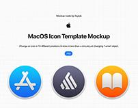 MacOS Icon Template Mockup - PSD