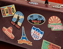 Vintage Travel Stickers - Part 1