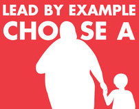 "AIGA Design for Good Poster ""Lead by Example"""